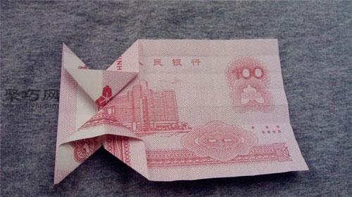 用钱折纸羊驼的折法图解教程
