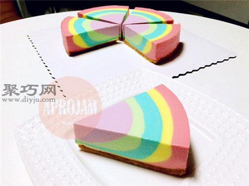 八寸彩虹慕斯蛋糕的做法 八寸慕斯蛋糕用料配比