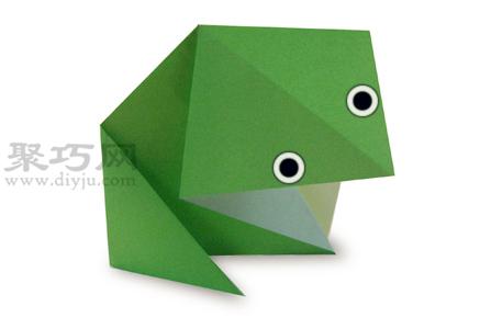 青蛙折纸教程图解 来学如何折纸青蛙