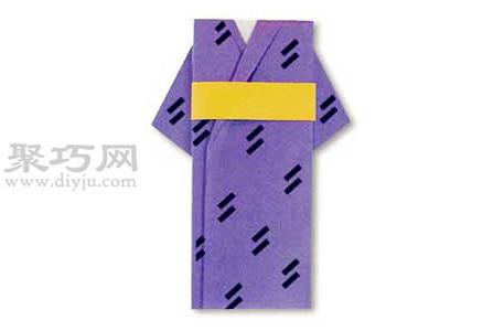 和服的折法图解 教你怎么折纸和服