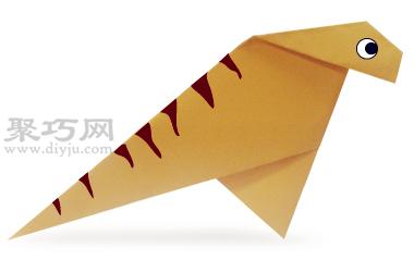 恐龙禽龙折纸教程图解 来学如何折纸恐龙禽龙