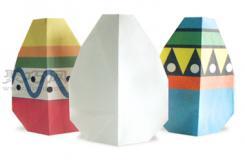 彩蛋折纸教程图解 来学如何折纸彩蛋