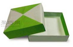 小扁盒子的折法图解教程 教你怎么折纸小扁盒子