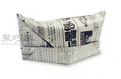 纸报手工折纸折陆军帽步骤图解 报纸折纸陆军帽的折法
