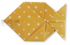 鱼折纸教程图解 来学如何折纸鱼