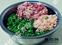 鲜嫩韭菜虾肉猪肉饺子馅拌法 饺子包法木鱼饺5