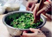鲜嫩韭菜虾肉猪肉饺子馅拌法 饺子包法木鱼饺10