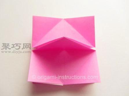超级简单的纸玫瑰花折叠教程