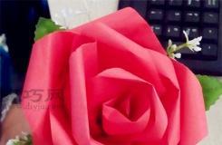 用纸做玫瑰花的方法 仿真玫瑰花手工制作方法图解