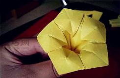 喇叭花的折法教程 喇叭花折纸步骤图解