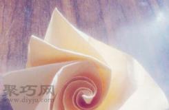 史上最简单的玫瑰花折法 简单玫瑰花的折纸图解