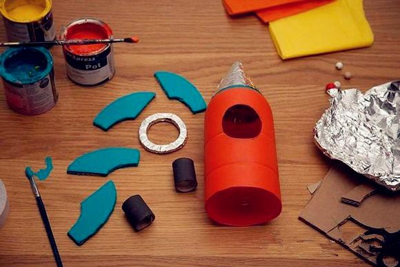 饮料瓶DIY航天火箭模型制作方法图解