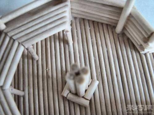 一次性筷子DIY凉亭模型