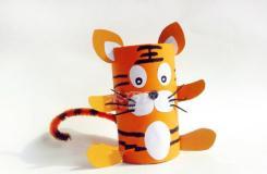 卷纸筒手工制作老虎 卫生纸筒diy可爱小老虎教程