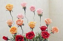 卷纸筒变废为宝手工制作假花花瓶步骤图解