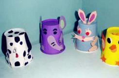 一次性水杯手工制作可爱小动物图片及方法