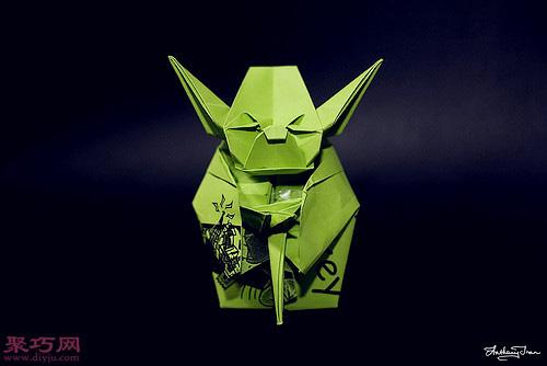 3D立体折纸星球大战尤达长老