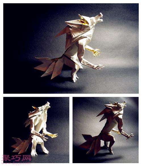 3D立体折纸龙