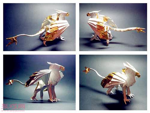 3D立体折纸飞龙