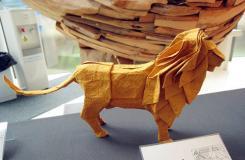 3D动物立体折纸欣赏 狮子、猪、狐狸、龙
