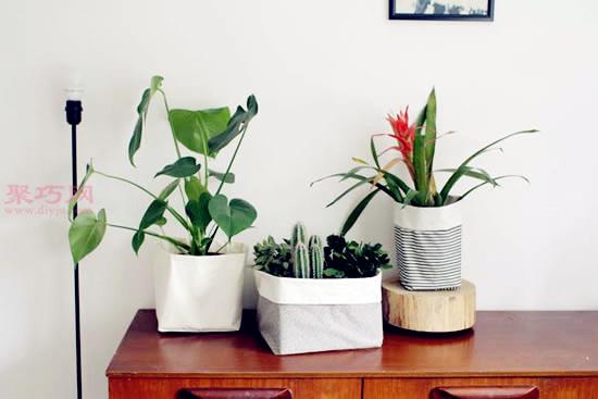 花盆难看外表如何装饰?来看看布艺花盆制作教程
