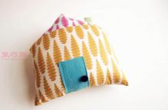 简单手工DIY布艺枕头做法 教你怎么缝小屋枕头