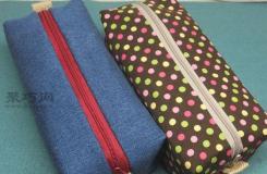 DIY长方形手提牛仔布包详细教程 教你如何手工制作化妆包