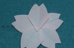 简单樱花花瓣折法 告诉你五角花瓣折纸怎么折