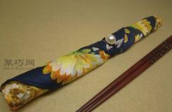 筷子套手工教程 教你如何将手帕手工改制筷子套