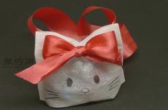 用无纺布袋做Kitty猫糖果包 儿童糖果包DIY图解