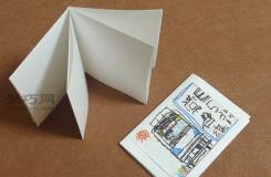 自己DIY个小笔记本 超级简单的折纸小册子图解教程
