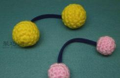 毛线头绳织法教程  教你用钩针编织可爱扎头绳