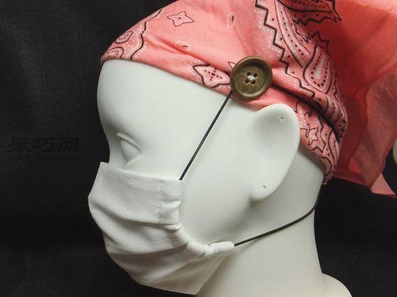 小技巧:戴口罩不勒耳朵的方法(图)