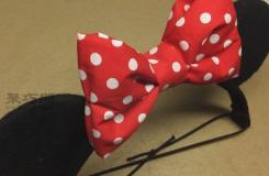 米老鼠发箍制作教程 来学做可爱的布艺蝴蝶结发箍