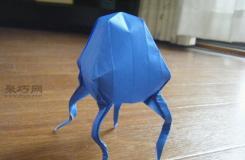 教你如何制作生动形象的手工折纸水母