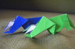 怎么折纸三角龙 立体恐龙折纸图解教程