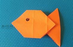 如何用纸折叠可爱的折纸鱼