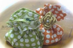 布艺手工制作小饰品袋子教程图解 DIY小礼品包装方法
