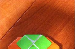 纸艺水果折纸教程 如何制作折纸柿子