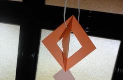 纸艺装饰小挂饰 折纸钻石挂饰制作图解