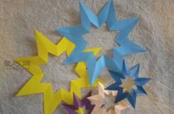 创意纸艺八角星裁剪图解 如何制作漂亮的星星小挂饰