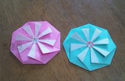 教你如何制作像花朵一样的纸艺折纸奖牌