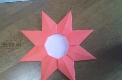 教你如何用折纸制作幼儿园小红花大奖章