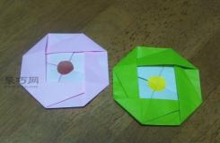 幼儿园折纸手工教程 用折纸制作可爱的卡通奖牌