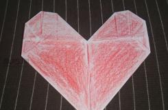 简单又好看 教你如何用长方形折纸制作爱心折纸