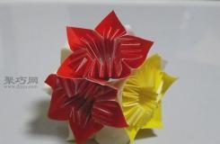 用简单方法折叠 教你手工立体花球的做法过程