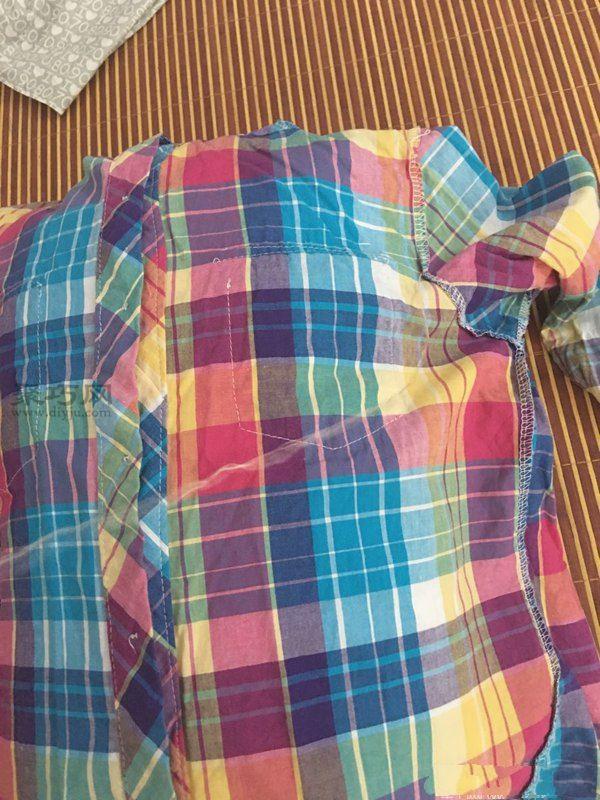旧衬衫改造抱枕 第6步