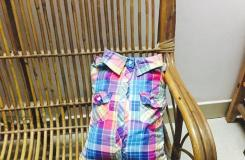 DIY靠枕教程 教你一件旧格子衬衫改造抱枕套方法