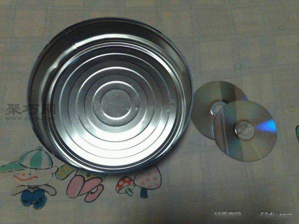 旧光盘装饰收纳盒 第1步