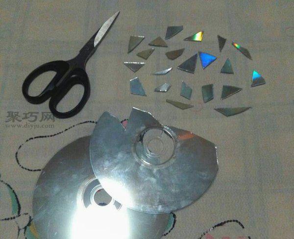 旧光盘装饰收纳盒 第2步